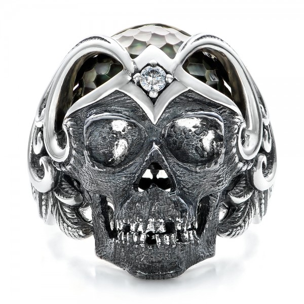 Mortality Skull Ring - Capitan Collection - Top View