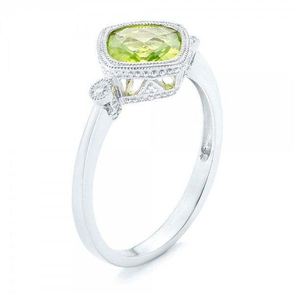 Peridot and Diamond Ring