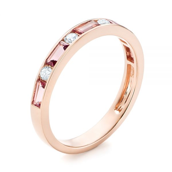 Pink Tourmaline and Diamond Ring - Image