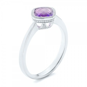 Solitaire Amethyst Ring