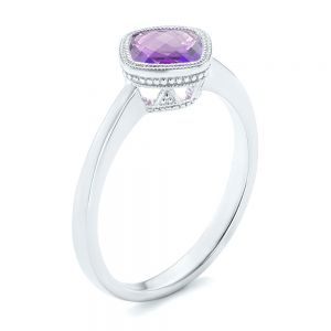 Solitaire Amethyst Ring - Image