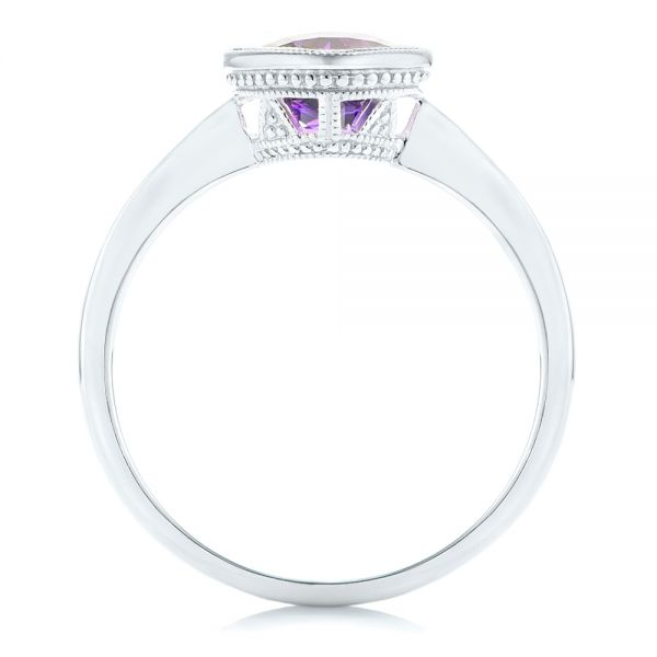 Solitaire Amethyst Ring - Front View -  102649 - Thumbnail