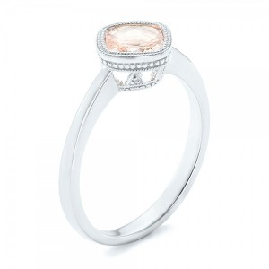 Solitaire Morganite Ring