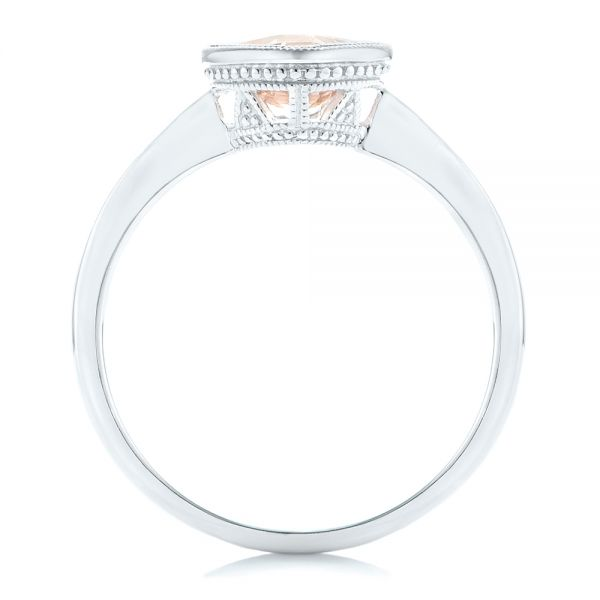 Solitaire Morganite Ring - Front View -  102643 - Thumbnail