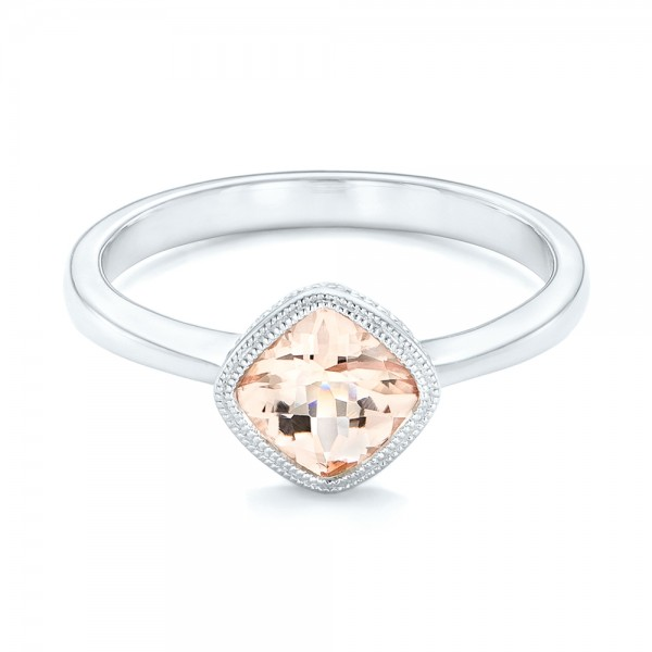 Solitaire Morganite Ring - Laying View