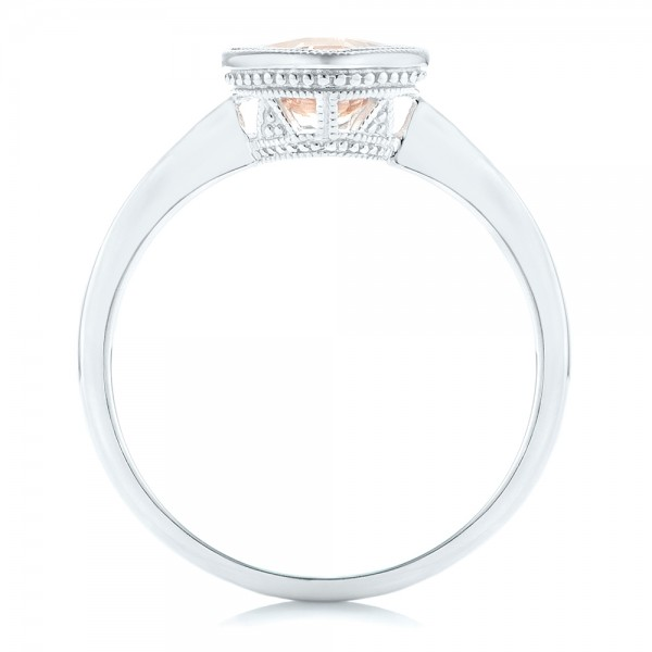 Solitaire Morganite Ring - Finger Through View