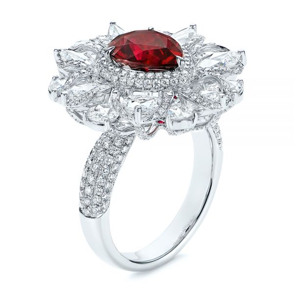 Starburst Diamond and Ruby Fashion Ring - Image