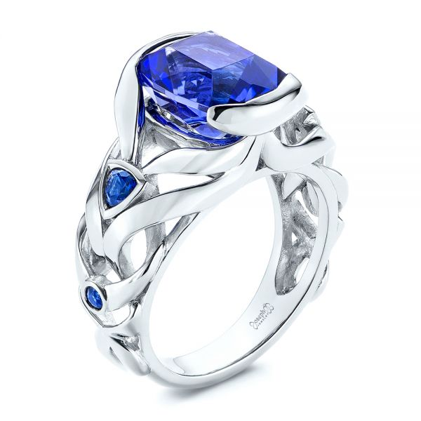 Tanzanite and Blue Sapphire Fashion Ring - Image