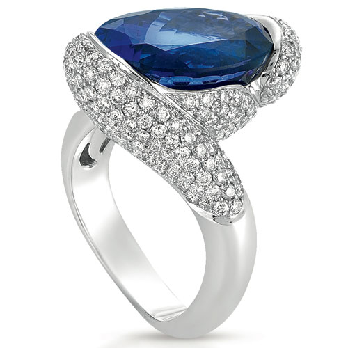 Tanzanite and Diamond Micro-Pave Ring - Vanna K