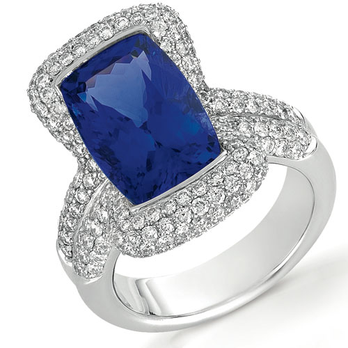 Tanzanite and Diamond Ring - Vanna K
