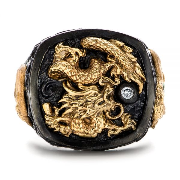 The Rising Dragon Ring - Capitan Collection - Flat View -