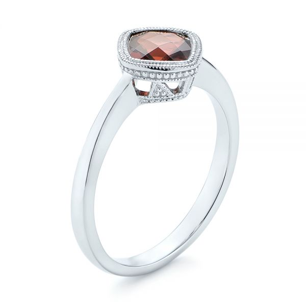 Vintage-Inspired Garnet Fashion Ring - Image