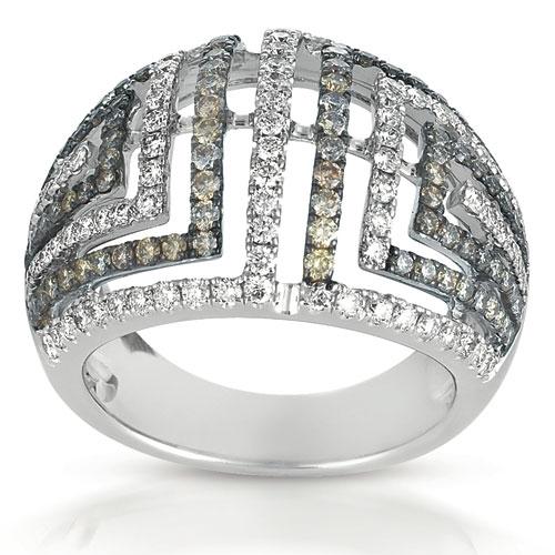 White and Brown Diamond Micro-Pave Ring - Vanna K