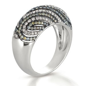 White and Brown Diamond Micro-Pave Ring - Vanna K