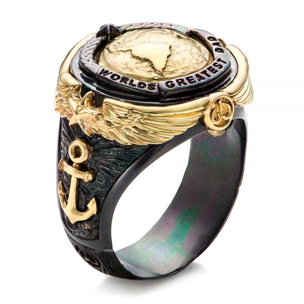 World's Greatest Dad Ring - Capitan Collection - Image