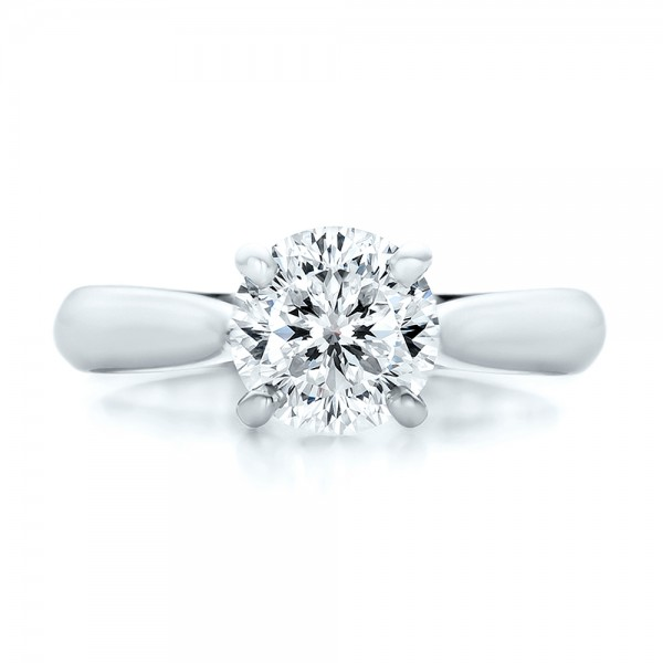 Custom Solitaire Engagment Ring - Top View