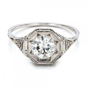 Estate Solitaire Diamond Art Deco Engagement Ring
