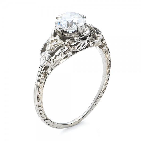 Estate Diamond Art Deco Engagement Ring