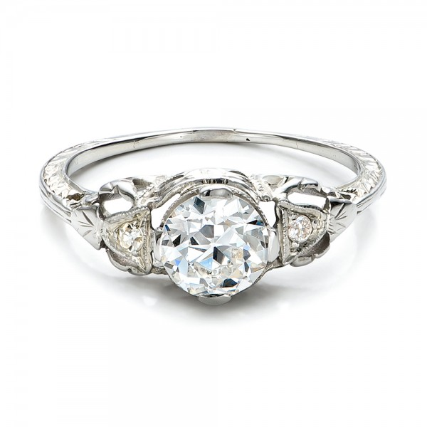 Estate Diamond Art Deco Engagement Ring