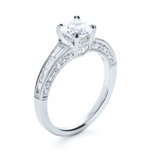 Baguette Diamond Engagement Ring - Image