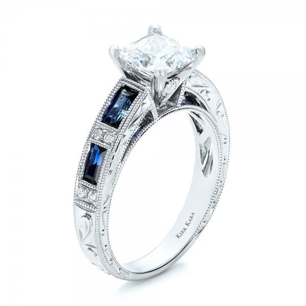 Blue Sapphire Engagement Ring - Kirk Kara