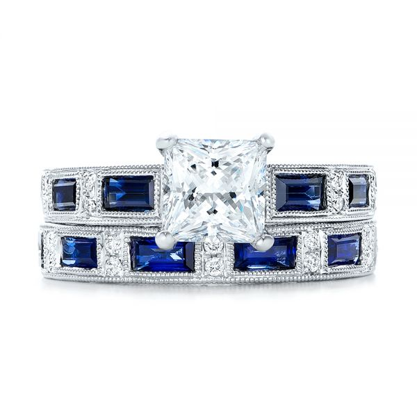 Blue Sapphire Engagement Ring - Kirk Kara - Side View -