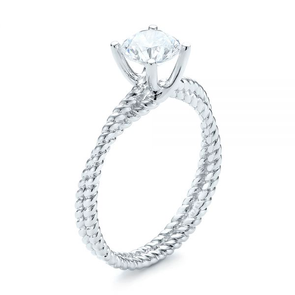 Braided Women's Engagement Ring - Image