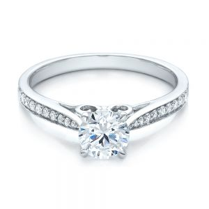 Bright Cut Diamond Engagement Ring
