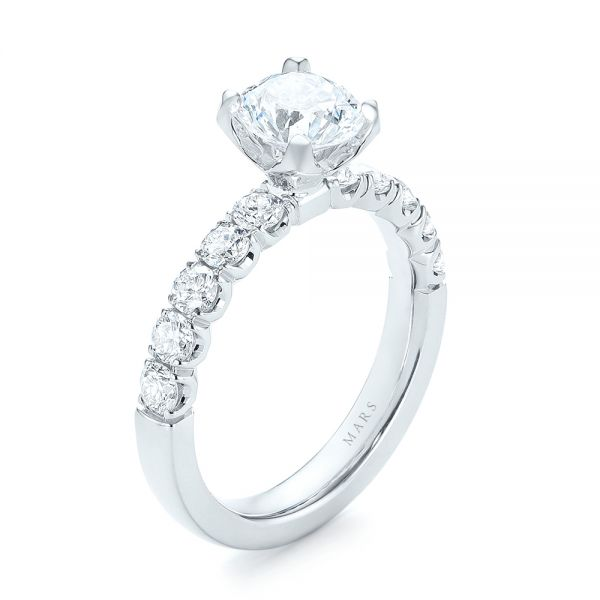 Brilliant Facet Split-prong Diamond Engagement Ring  - Image