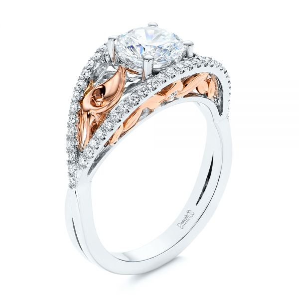 Calla Lilly Custom Diamond Engagement Ring - Image