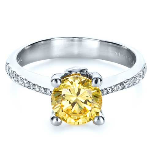 Canary Yellow Diamond Engagement Ring #1291