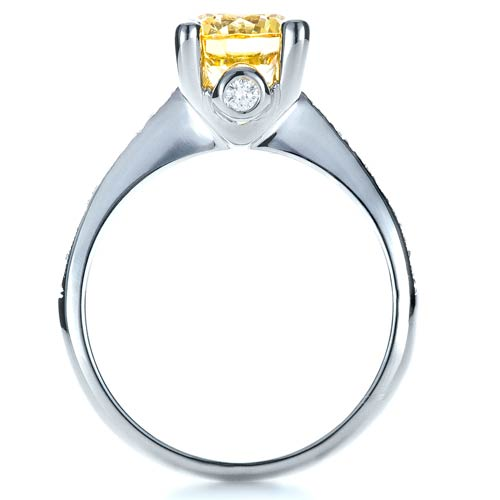 Canary Yellow Diamond Engagement Ring - Front View -  1291 - Thumbnail