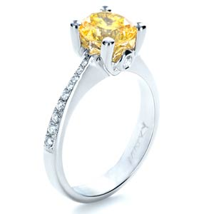 Canary Yellow Diamond Engagement Ring