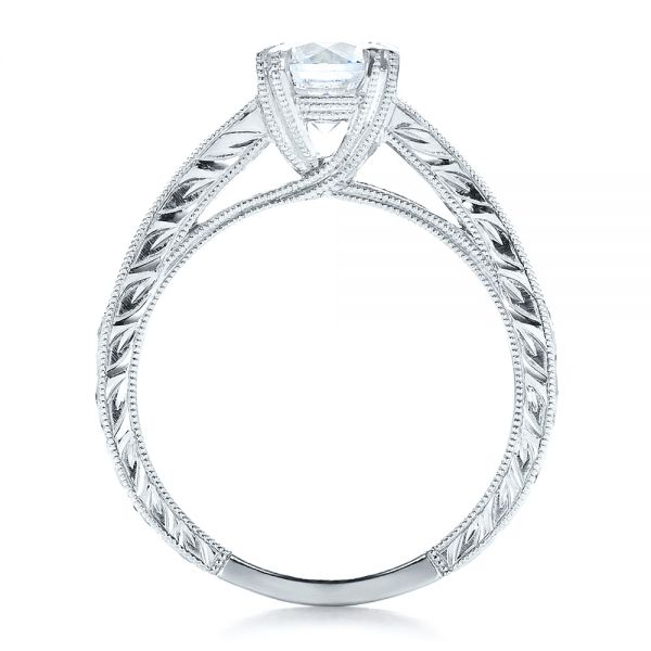 Channel Set Diamond Engagement Ring With Matching Wedding Band- Kirk Kara - Front View -  100193