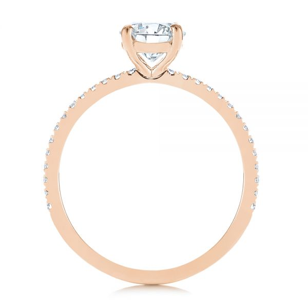 14k Rose Gold 14k Rose Gold Classic Diamond Engagement Ring - Front View -  105747 - Thumbnail