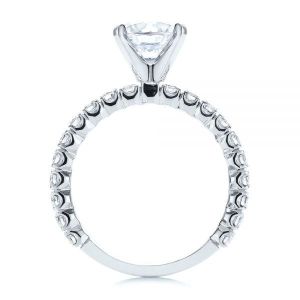 18k White Gold Classic Diamond Engagement Ring - Front View -  105320 - Thumbnail