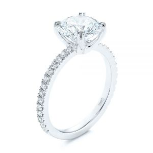 Classic Double Claw Prong Diamond Engagement Ring - Image