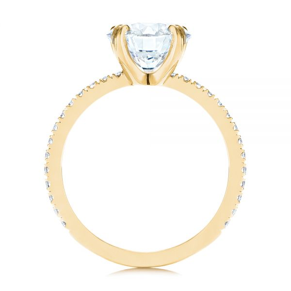 14k Yellow Gold 14k Yellow Gold Classic Double Claw Prong Diamond Engagement Ring - Front View -  105847