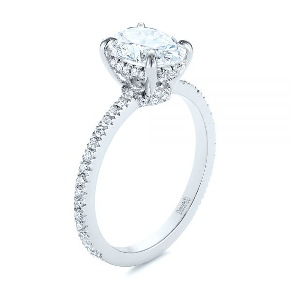 Classic Oval Diamond Engagement Ring - Image
