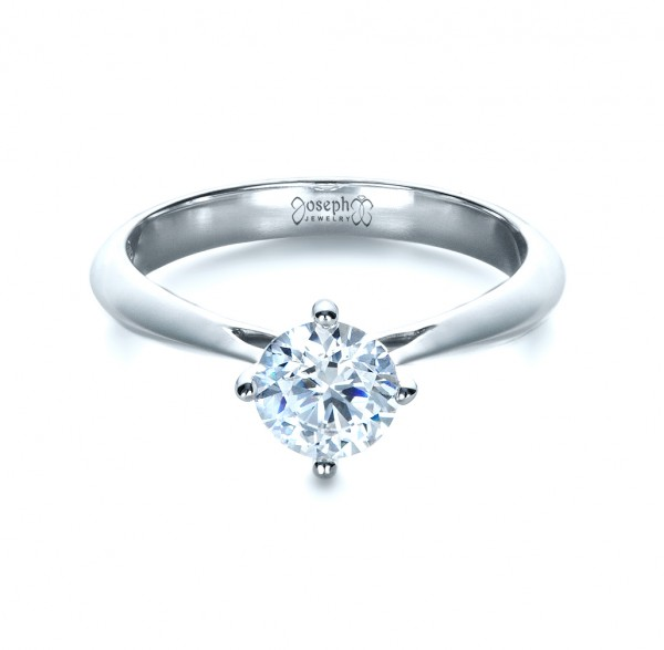 Classic Solitaire Engagement Ring - Laying View