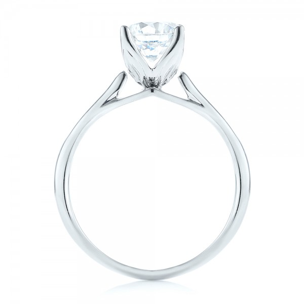 Classic Solitaire Engagement Ring - Finger Through View