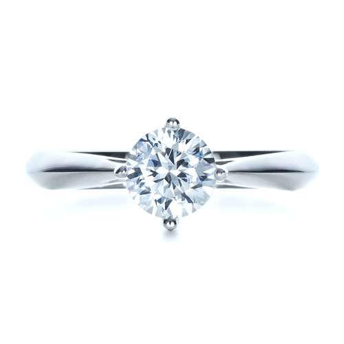 Classic Solitaire Engagement Ring - Top View