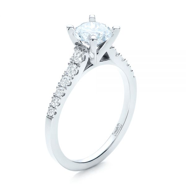 Classic Tapered Diamond Engagement Ring - Image