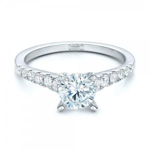Classic Tapered Diamond Engagement Ring