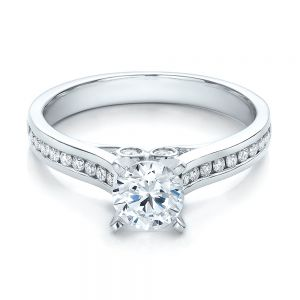 Contemporary Channel Set Diamond Engagement Ring