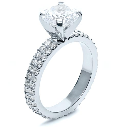 Contemporary Diamond Engagement Ring - Three-Quarter View -  168 - Thumbnail
