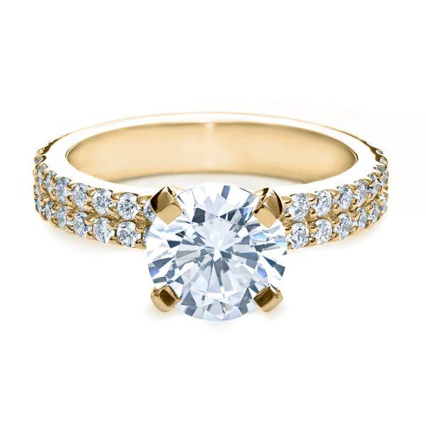 14k Yellow Gold Contemporary Diamond Engagement Ring 168 Seattle Bellevue Joseph Jewelry