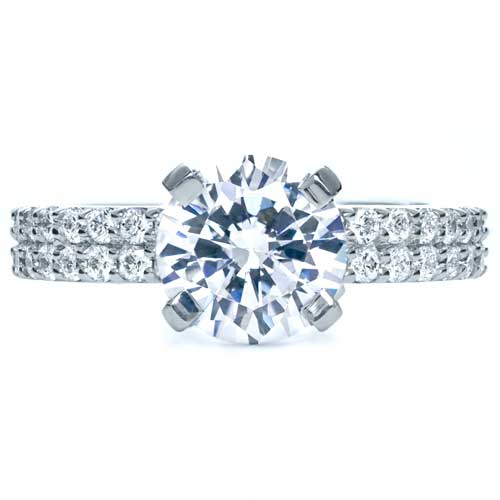 Contemporary Diamond Engagement Ring - Top View -  168 - Thumbnail