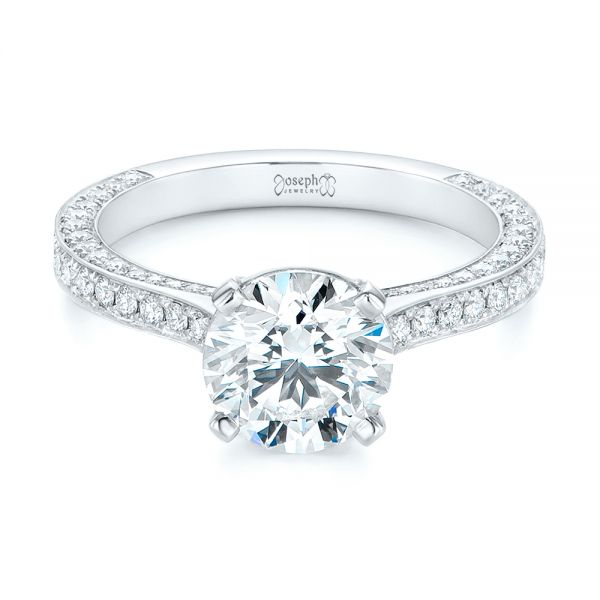 Contemporary Round Diamond Engagement Ring