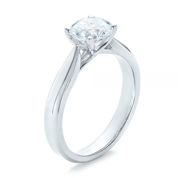 Contemporary Solitaire Engagement Ring - Image